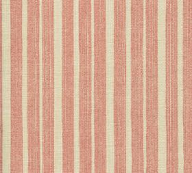 Cotton - York Stripe - L-028 - Light, dusky pink and limestone coloured 100% cotton fabric featuring an uneven vertical striped design