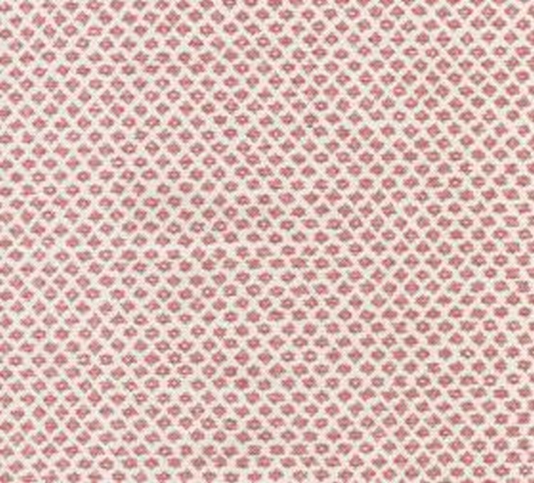 Cotton - Marden - 100% cotton fabric in dark red and white, with a design of rows of very small shapes