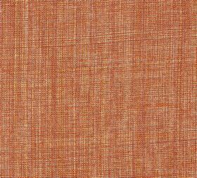 Plain Linen - Perfect Fool - 100% linen fabric woven from threads in various shades of burnt orange, dark red, mustard yellow and cream