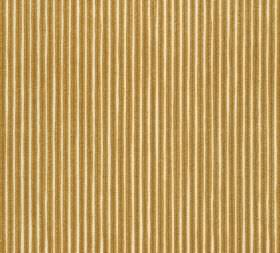 Cotton - Poulton Stripe - Olive green and cream coloured fabric made from vertically striped 100% cotton