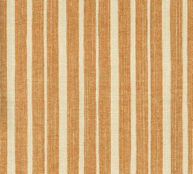 Cotton - York Stripe - 100% cotton fabric with an uneven vertical stripe design in putty and dusky orange shades