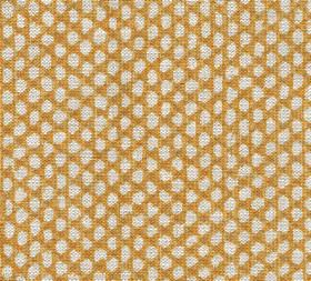 Wicker - Linen - Fabric made using gold and off-white coloured 100% linen with a repeated pattern of small pebble-like shapes