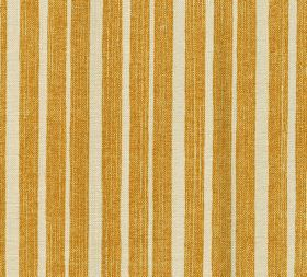 Cotton - York Stripe - 100% cotton fabric made with a striped design in putty and a golden honey colour