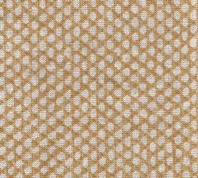 Wicker - Linen - N-093 - Warm brown coloured 100% linen fabric as a background to a repeated pattern of small grey pebble-like shapes
