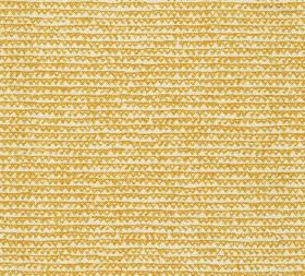 Cotton - Frome - 100% cotton fabric in cream and bright mustard yellow, with a pattern of uneven horizontal lines and triangle outlines