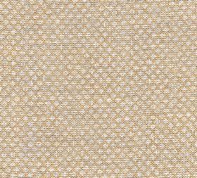 Figured - Linen - N-067 - Tiny pale grey and beige shapes arranged in rows over a 100% linen fabric background in a wafer brown colour
