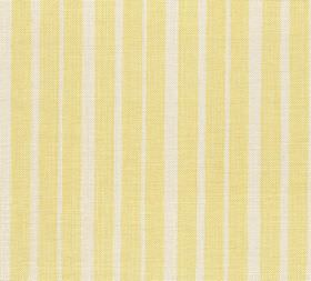 Cotton - York Stripe - L-043 - Vertically striped fabric made from pale yellow and grey coloured 100% cotton