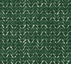 Cotton - Barmillion - A subtle pattern created by unevenly coloured zigzag stripes on 100% cotton fabric in white and deep shaes of green