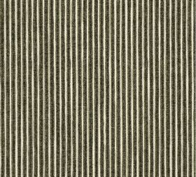 Cotton - Poulton Stripe - L-058 - Fabric made from vertically striped 100% cotton in white and very dark grey