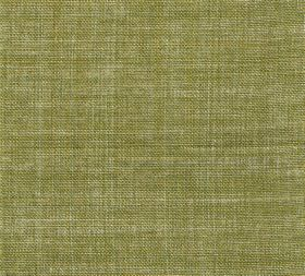 Plain Linen - Goose Green - Fabric made entirely from olive green and cream coloured threads of linen