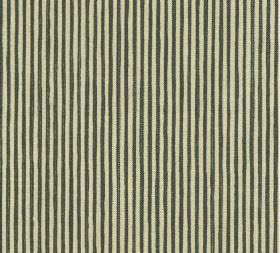 Cotton - Hertford Stripe - Putty and charcoal coloured stripes alternating on fabric made entirely from cotton in a regular, repeated patter