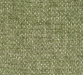 Figured - Linen - Cream dots subtly patterning patchily coloured olive green and cream coloured fabric made entirey from linen