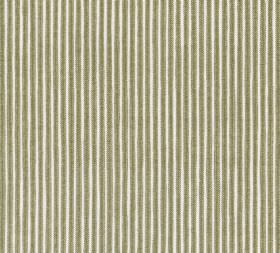 Cotton - Poulton Stripe - Narrow stone grey coloured stripes printed vertically onto a white 100% cotton fabric background