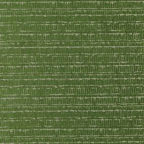 Canyon - Grass - Rich grass green fabric made from polyester, acrylic and viscose, with a roughly printed light grey rectangular design