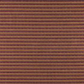 Geronimo - Confetti - Horizontally striped polyester, acrylic and viscose blend fabric with a thin design in creamy beige, brown & dark purp