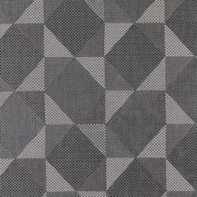 Mesa - Dove - Various light and dark shades of grey making up a stylish geometric shape design on polyester, acrylic & viscose fabric