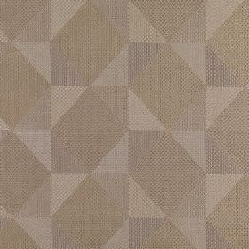 Mesa - Sesame - Polyester, acrylic and viscose blend fabric made in light beige and grey shades, with a stylish geometric shape design