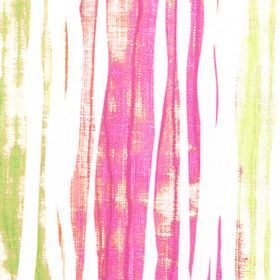 Kew - Blossom - Abstract bright pink, lime green and pale yellow streaks on plain white fabric made from 100% cotton