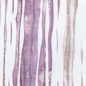 Kew - Aster - Streaked cotton fabric in white, purple, light grey and beige