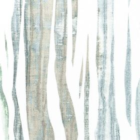 Kew - Nigella - White fabric made entirely from cotton, patterned with streaks in various shades of duck egg blue and grey