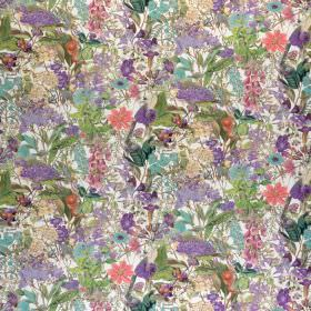 Chelsea - Lavish - Fabric made from 100% cotton with a small, busy, floral pattern in light, fresh lilac, pink, blue and cream colours