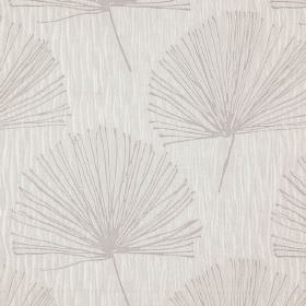 Illuminate - Angora - 100% polyester fabric made in two light shades of grey, featuring a simple, stylish dandelion pattern