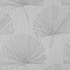 Illuminate - Ice - A simple, stylish, repeated dandelion pattern on fabric made from 100% polyester in two different shades of grey