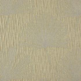 Illuminate - Straw - Light shades of grey and beige making up a very subtle dandelion pattern on fabric made from 100% polyester