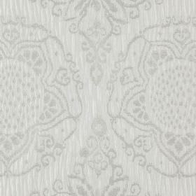Tableau - Ice - 100% polyester fabric featuring pretty, detailed patterns in two different light shades of grey