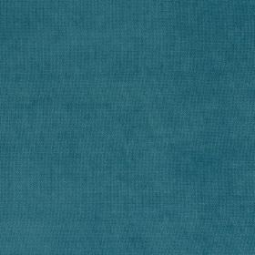 Eden - Carribean - Unpatterned fabric in a deep turquoise colour