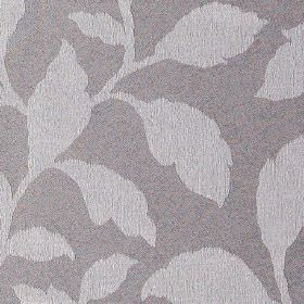 Epsom - Lilac - Polyester and cotton blend fabric in purple-grey, patterned with light grey coloured leaves in a simple, elegant pattern