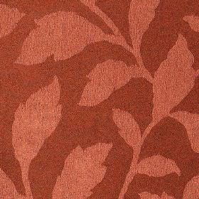 Epsom - Mars - Blood red coloured fabric made from elegant leaf patterned polyester and cotton, with a simple light red coloured design