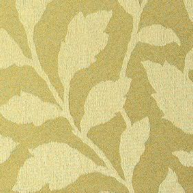 Epsom - Straw - Polyester and cotton blend fabric made with a simple, stylish leaf pattern in creamy yellow and light beige colours
