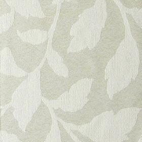 Epsom - Bone - Two different light shades of grey making up a simple, elegant leaf pattern on polyester and cotton blend fabric