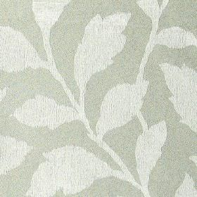 Epsom - Whisper - Polyester and cotton blend fabric made in two different shades of grey, featuring a simple, elegant leaf design