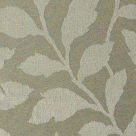 Epsom - Egret - Iron grey fabric made from polyester and cotton, featuring simple, elegant leaves in a lighter shade of grey