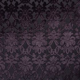 Ferrara - Nerissimo - Elegant, luxurious fabric made from 100% polyester in black, featuring a subtle, very elegant, detailed pattern