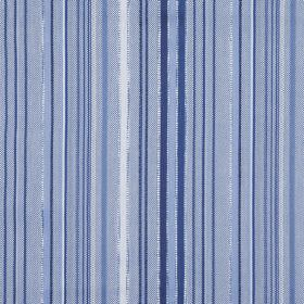 Giovanni - Delft - Hard wearing fabric with a random vertical stripe pattern in white and several different shades of blue