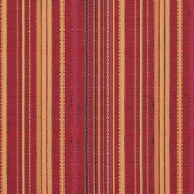 Giovanni - Sangria - Dark red, raspberry, black and pumpkin coloured stripes on hard wearing fabric