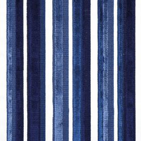 Raphael - Delft - Fabric striped with subtle shades of dark blue and bright white