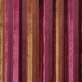 Raphael - Prune - Striped fabric in different shades of purple and bronze, some with a shimmering texture