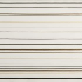 Santa Croce - Cappuccino - Horizontally striped hard wearing fabric in black, dark brown, grey, cream and white