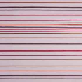 Santa Croce - Prune - Light pink hard wearing fabric with a design of horizontal stripes in pinks, purples, browns and oranges