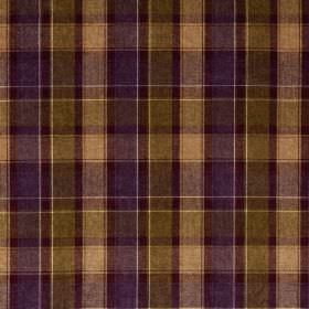 Glencoe - Wallace - Fabric made entirely from acrylic, covered with simple checks in purple, cream and olive green