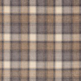 Glencoe - Sutherland - Checked fabric made from 100% acrylic in neutral tones of grey, brown and cream