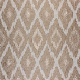 Bass - Take Five - Simple, concentric diamonds printed in beige, light brown and pale grey on fabric made from polyester and cotton