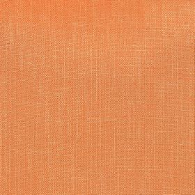 Kingsley - Persimmon - Pumpkin orange coloured polyester fabric with no pattern