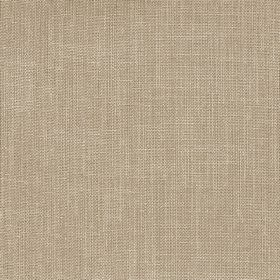 Kingsley - Biscuit - Plain polyester fabric in a light coffee brown
