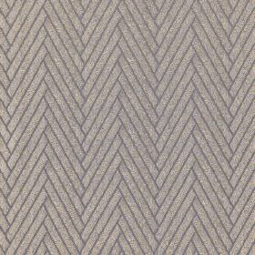 Elba - Pelican - Blue-grey 100% polyester fabric behind a herringbone style design of thick light grey diagonal lines