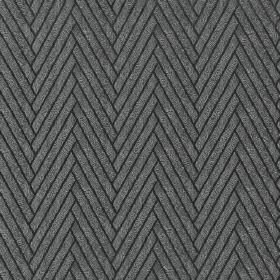 Elba - Carbon - 100% polyester fabric in black and dark, luxurious grey, with thick diagonal lines making up a herringbone style design